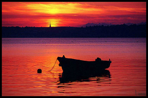 Sunset over East Cork, Ireland by Lionne (♥‿♥)