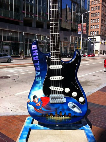 Superman Guitar in Cleveland