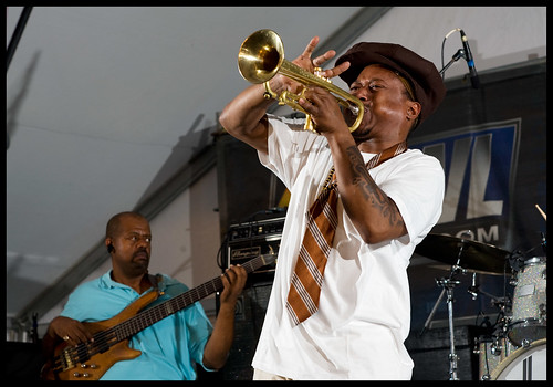 Kermit Ruffins and the Barbecue Swingers at Satchmo Fest 2012. by Ryan Hodgson-Rigsbee (rhrphoto.com)