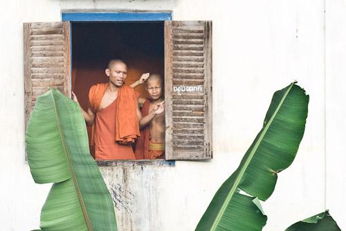 Monks at Bakong