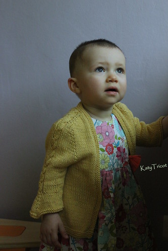 Baby knitted cardi