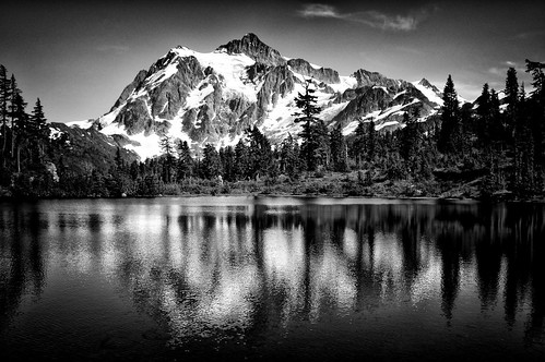 Mt. Baker #2 - View of Mt. Sushkan from Picture Lake