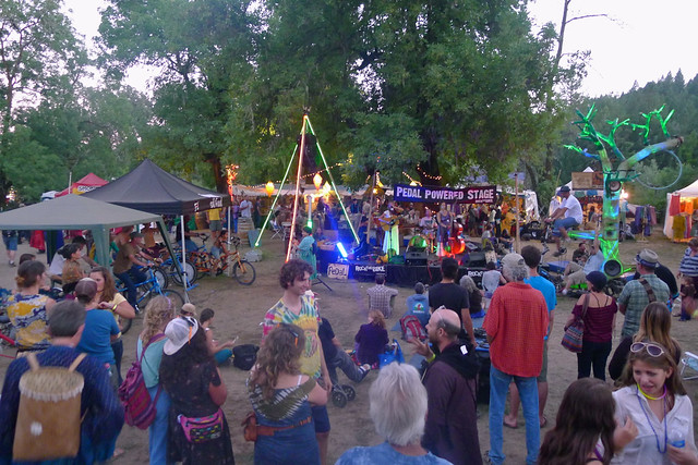 gaia festival pedal powered stage
