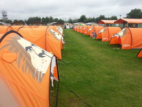 Je zou bijna denken dat het een oranjecamping is...