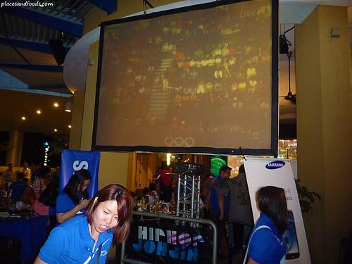 samsung viewing party big screen