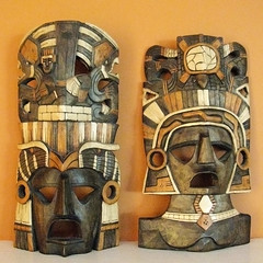 Mexican wooden masks