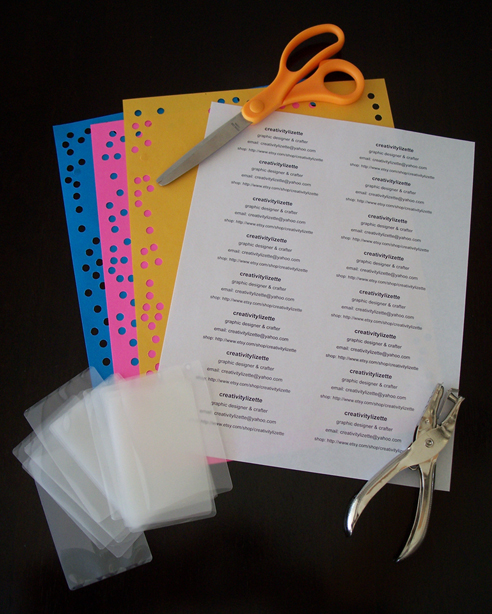 supplies business card laminated pouches or self sealing laminated pouches both which you can find at your local office supply store scissors - How To Laminate Cards