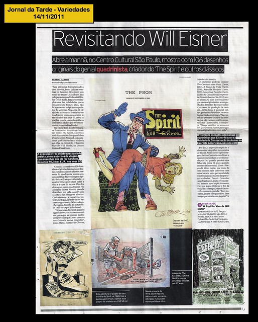 """Revisitando Will Eisner"" - Jornal da Tarde - 14/11/2011"