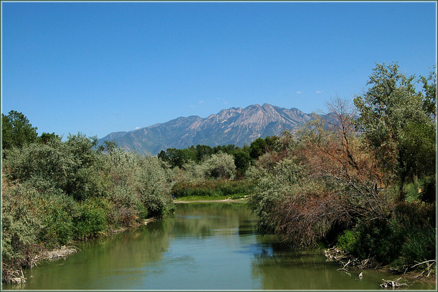 Mt Olympus From The Jordan River August 4 2012 Salt