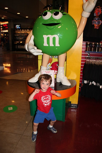 Olsen dancing with the Green M&M