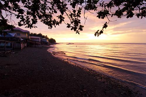 ocean sunset sun color evening site view philippines basura vista anilao mabini padoysdivecamp