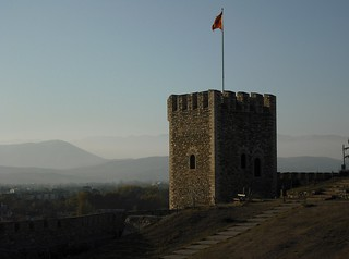 Image of Skopje Fortress near Skopje. tower macedonia fortress balkan skopje macedonianflag скопје скопскокале skopksokale