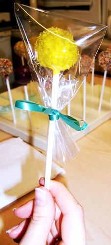 wrapped cake pop