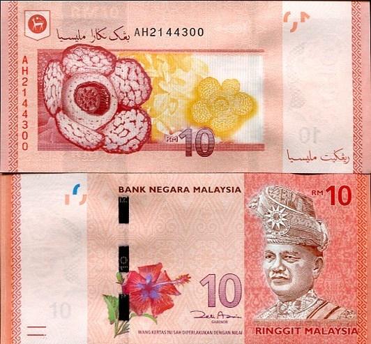 10 Ringitt Malajzia 2012