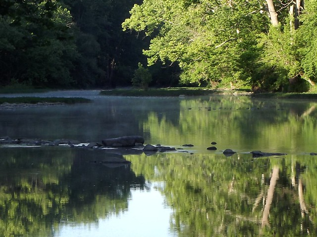 Along the Olentangy Scenic River in central Ohio daybreak is nearly always a tranquil and peaceful affair by Rust Gibson June 14, 2012.
