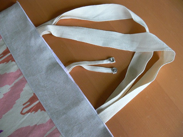Jenny: Roll-up Tote Bag with Snaps