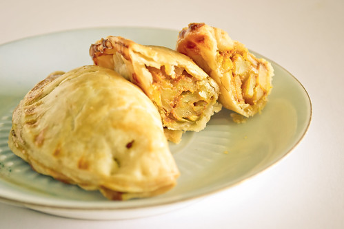 Curried potato puffs