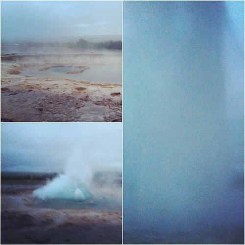 Para finalizar el día el #geysir Strokkur dándolo todo, impresionante ver uno de estos bichos #islandia #iceland #tripiniceland