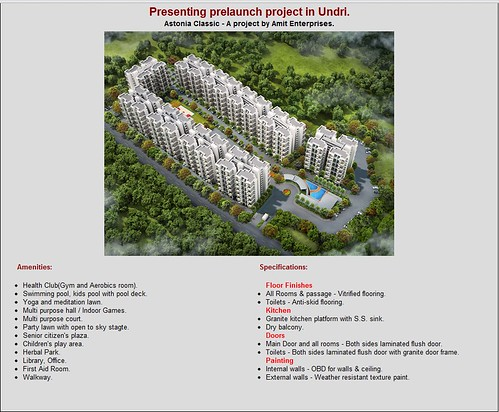 Pre Launch Offer Amit Astonia Classic in Undri, Pune near Bishops School by Amit Enterprises Housing Ltdstarting at Rs 3300 psf by jungle_concrete