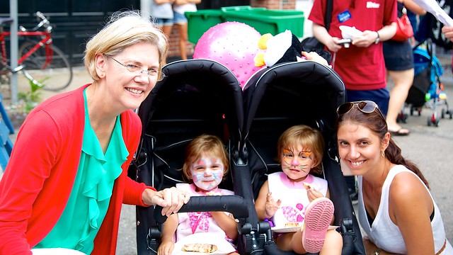 Meeting US Senate Candidate Elizabeth Warren at St. Anthony's Feast