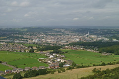 Huddersfield fom the top of the Jubilee Tower, Castle Hill by Tim Green aka atoach