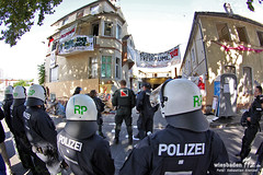 Hausräumung Obere Austraße Mainz 28.08.12