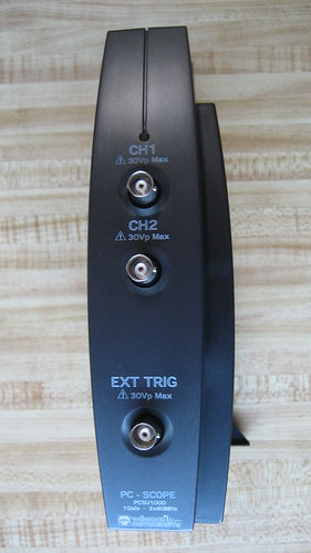 Velleman PCSU1000 Oscilloscope Front Panel