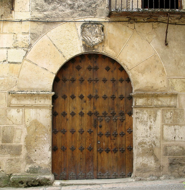 A massively arched doorway, Pedraza, Spain