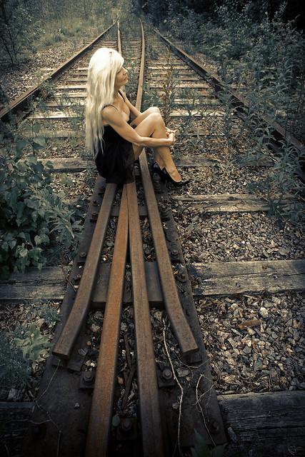 On a rusty railway point