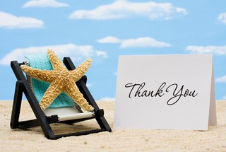 Thank You's for June 2012 (Stock Photo by Karen Roach)