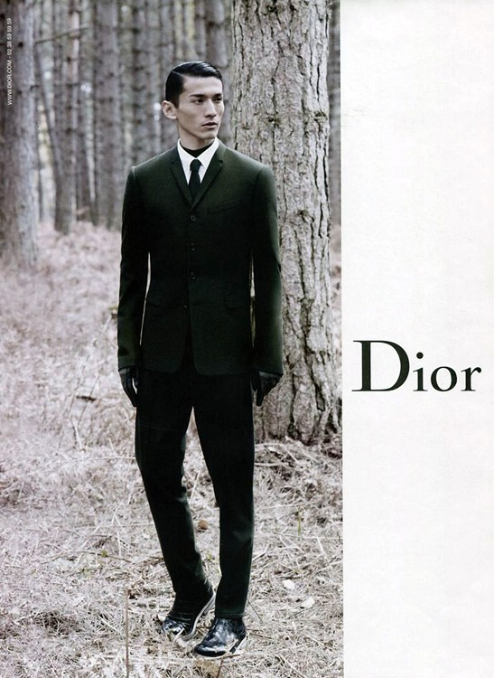 Dior Homme Fall  12 Campaign — Daisuke Ueda by Karl Lagerfeld
