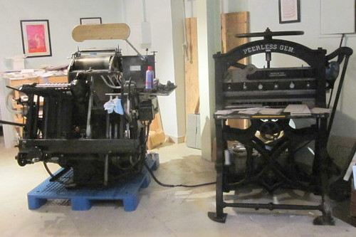 press and papercutter
