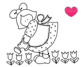 Desenho fofinho... presentinho para vocês amigas e artesãs maravilhosas!!! by Maria Sica
