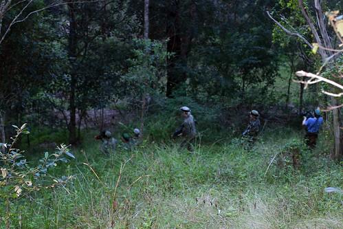 Laser skirmish in bush
