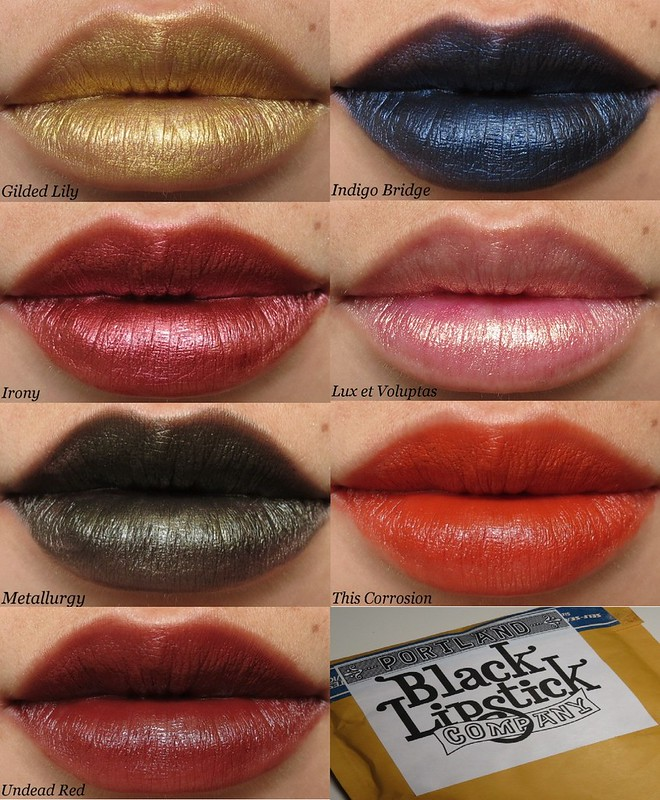 Portland Black Lipstick Company Lipsticks Collage