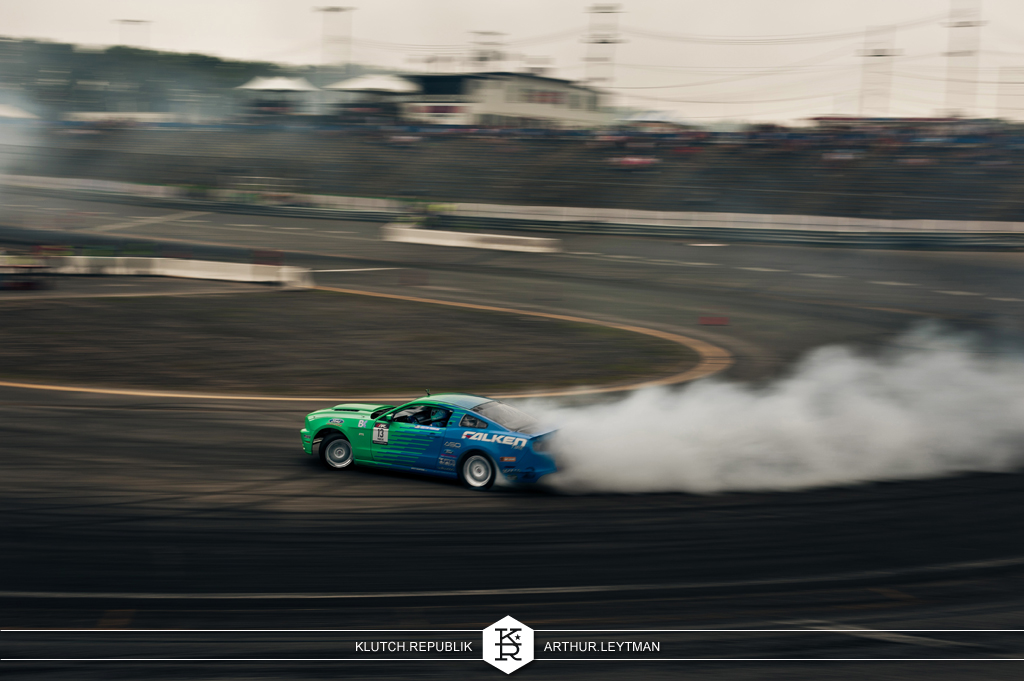 blue green falken ford mustang drifting at formula drift the wall new jersey 3pc wheels static airride low slammed coilovers stance stanced hellaflush poke tuck negative postive camber fitment fitted tire stretch laid out hard parked seen on klutch republik