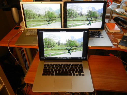 3 generations of macbook pros