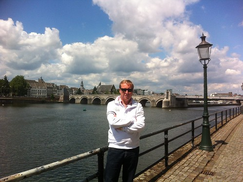 Marc at the river Maas in Maastricht