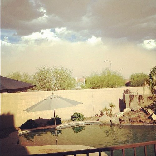 Dust storm approaching