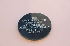Photo of John Hack black plaque
