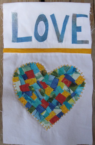 LOVE w/heart prayer flag (for Joyce)