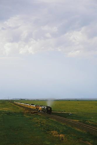 railroad summer up clouds train vintage carr aperture nikon colorado steam unionpacific locomotive wyoming cheyenne steamlocomotive 844 vscofilm