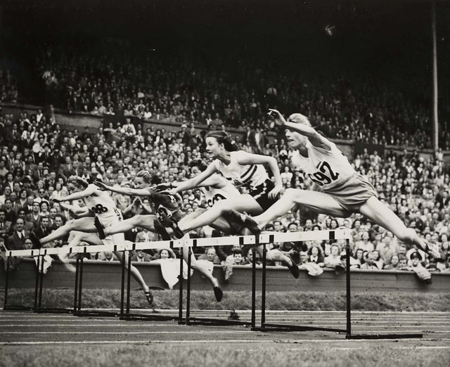 Women's final of 80 metres hurdles, Olympic Games, London, 1948.