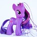 Twilight Sparkle with Gem eyes and tinsels (Crystal Empire?)