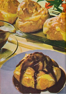 Cream Puffs with Hot fudge sauce