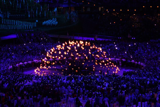 London Olympic Flame Lighting - Opening Ceremony