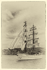 sail, sailing ship, schooner, vehicle, ship, mast, galeas, sloop-of-war, tall ship, watercraft, brig, brigantine,