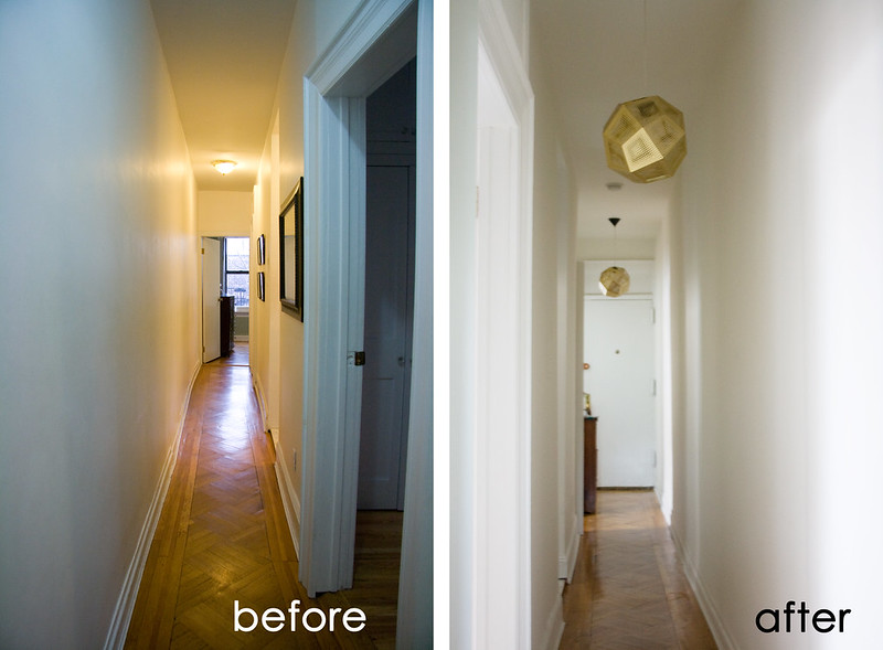 Hallway Before & After