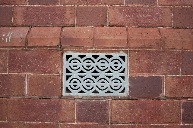 Vent detail at the Narrabri Train Station