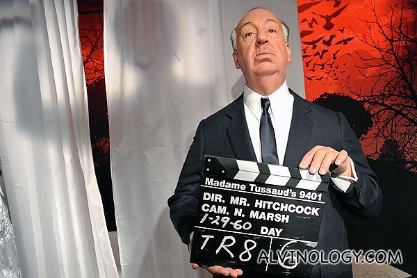 Famous movie director Alfred Hitchcock